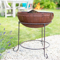 Small Image of La Hacienda Zanga Rustic 70cm Firepit With Grill