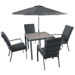 Extra image of LG Milano 4 Seater Square Set in Graphite / Anthracite