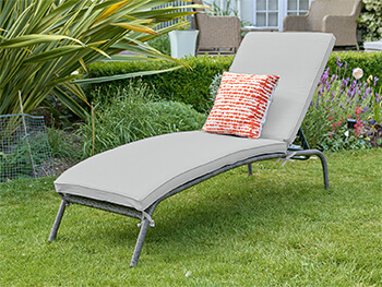 Image of LG Monaco Stone Sunlounger in Pebble / Ash Grey