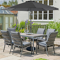 Small Image of LG Milano 6 Seater Rectangular Set in Graphite / Anthracite