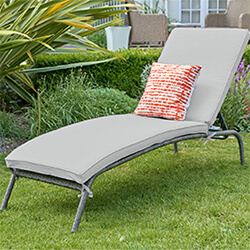 Small Image of LG Monaco Stone Sunlounger in Pebble / Ash Grey