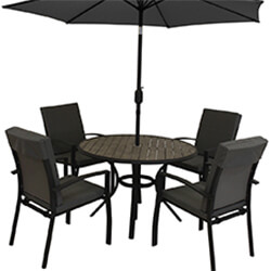 Extra image of LG Turin 4 Seater Dining Set in Graphite / Mixed Grey