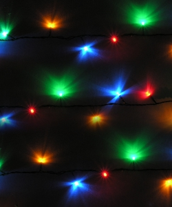 Image of Multiple Coloured Festive LED Lights - 100 Static Lights