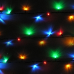 Small Image of Multiple Coloured Festive LED Lights - 100 Static Lights