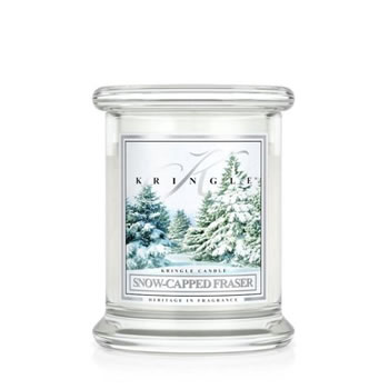 Image of Kringle 8.5oz Snow-Capped Fraser Small Classic Jar Christmas Candle (0002-000101)