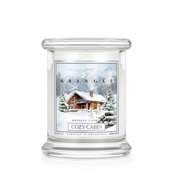 Image of Kringle 8.5oz Cozy Cabin Small Classic Jar Christmas Candle (0002-000112)