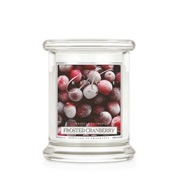 Image of Kringle 8.5oz Frosted Cranberry Small Classic Jar Christmas Candle (0002-000387)
