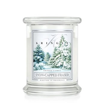 Image of Kringle 14.5oz Snow-Capped Fraser Medium Classic Jar Christmas Candle with 2 Wicks (0067-000101)