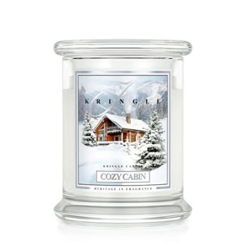 Image of Kringle 14.5oz Cozy Cabin Medium Classic Jar Christmas Candle with 2 Wicks (0067-000112)