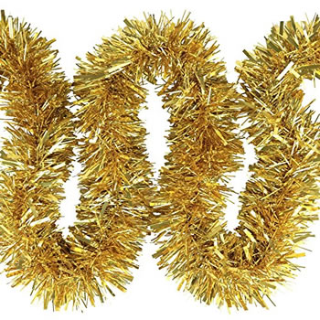 Image of 3 x 2m (6m) Gold Chunky Cut 10cm Christmas Tree Tinsel