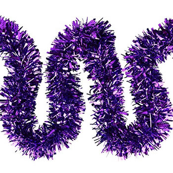 Image of 3 x 2m (6m) Purple Chunky Cut 10cm Christmas Tree Tinsel