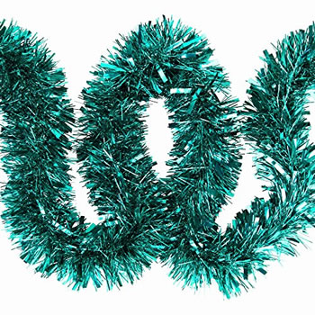 Image of 3 x 2m (6m) Turquoise Chunky Cut 10cm Christmas Tree Tinsel