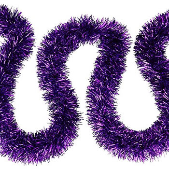 Image of 3 x 2m (6m) Bright Purple Fine Cut 7.5cm Christmas Tree Tinsel