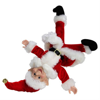 Image of 30cm Bendable Naughty Elf for the Shelf Christmas Decoration