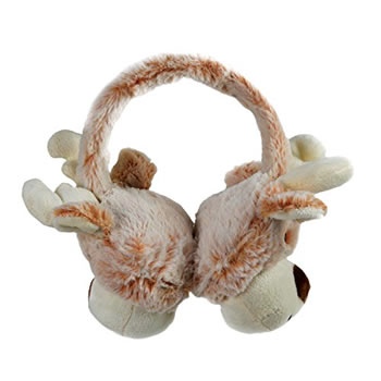 Image of Cosy Christmas Reindeer Plush Ear Muffs