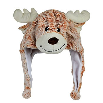 Image of Cosy Christmas Reindeer Plush Winter Hat
