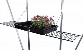 Image of Speed Shelf 11in Mesh Greenhouse Shelf Green