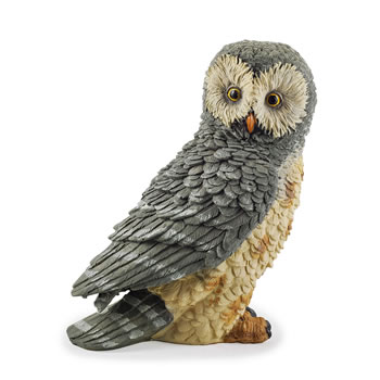 Image of The Hooters' Realistic Resin Garden Owl Ornament - Design A