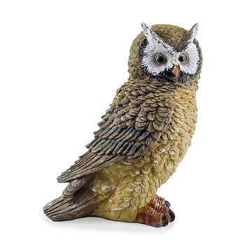 Image of The Hooters' Realistic Resin Garden Owl Ornament - Design B