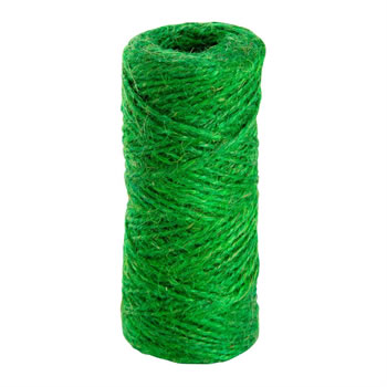 Image of 100m (328ft) Green Jute Twine String for Gardening, Craft, Flowers