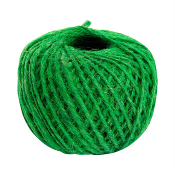 Image of 125m (410ft) Green Jute Twine String Ball for Gardening, Craft, Flowers