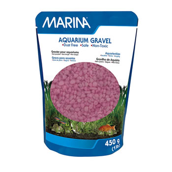 Image of Marina Decorative Aquarium Gravel Pink 450g