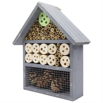 Image of 3-Tier Wall-mount Wooden Bee & Insect Hotel