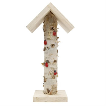 Image of Free-standing Wooden Branch Ladybird & Insect Hotel