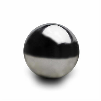 Image of 18cm Stainless Steel Mirror Sphere Gazing Ball Garden Ornament (2)