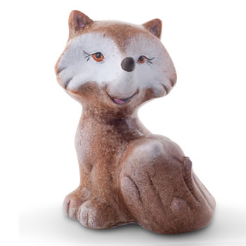 Image of Nara the 13cm Sitting Terracotta Fox Statue Ornament