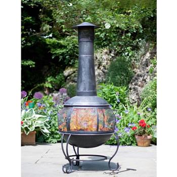 La hacienda alamo jumbo steel chimenea patio heater garden4less uk shop - La hacienda chimenea ...