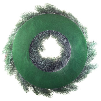 Extra image of 45cm Realistic Artificial Green Fir Christmas Wreath Decoration