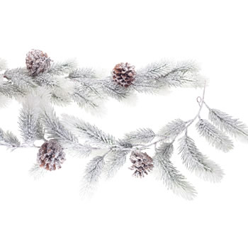 Extra image of 1.8m Realistic Artificial Snow Covered Fir Christmas Garland