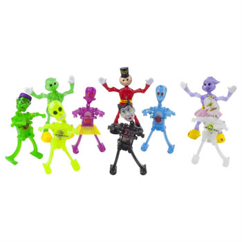 Image of Set of 9 Halloween & Humanoid Wind-up Toys Kids Party Bag & Stocking Fillers