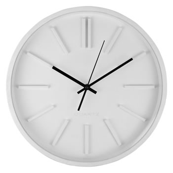 Image of 35cm Contemporary White Home Wall Clock