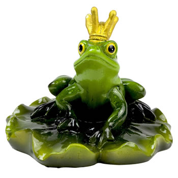 Image of Floating Frog Prince Garden Ornament Lightweight Pond Feature (Head Up)