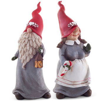 Extra image of Dennis & Doris the Set of 2 26cm Christmas Gnome Ornaments
