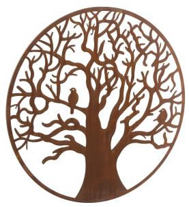 Wonderful Rustic Round Steel Garden Metal Tree Screen Wall Art 1m
