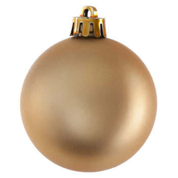 Extra image of Pack of 20 Glitter, Matte & Shiny Gold 5cm Christmas Baubles