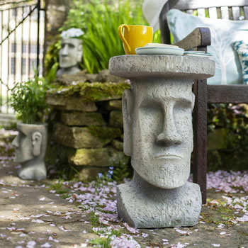 Image of La Hacienda Easter Island Garden Stand Ornament
