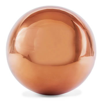 Image of Polished Copper Stainless Steel 25cm Garden Sphere Gazing Ball Ornament