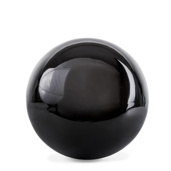 Image of Polished Black Stainless Steel 9cm Garden Sphere Gazing Ball Ornament