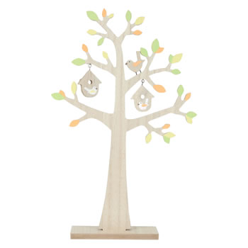 Image of Free-standing Wooden Spring Blossom 35cm Tree Ornament