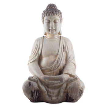 Image of Large 50cm Sitting Driftwood Effect Resin Buddha Ornament