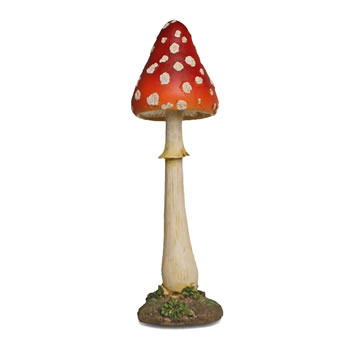 Image of Large Tall Pointed Resin Mushroom Toadstool Garden Ornament