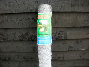 Image of 25m roll of 1.2m (4ft) tall chicken wire mesh - 50mm