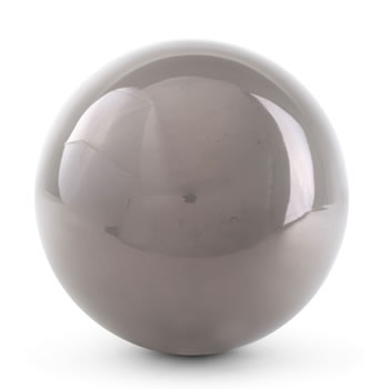 Image of Grey Stainless Steel 9cm Garden Mirror Sphere Gazing Ball Ornament