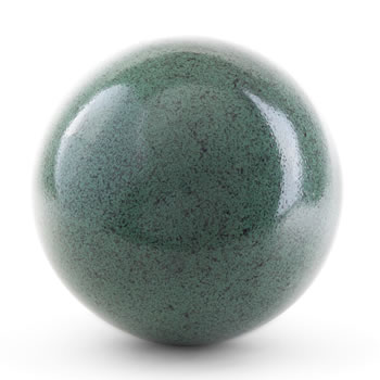 Image of Green Marble Effect 18cm Stainless Steel Garden Gazing Ball Ornament