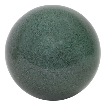 Image of Green Marble Effect 25cm Stainless Steel Garden Gazing Ball Ornament