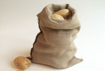 Image of 5 Hessian Sacks 30 x 45cm Jute Potato Vegetable Storage Bags